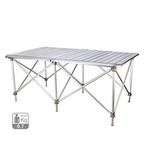 homelx Aluminium Klapptisch höhenverstellbare Tische im Freien BBQ tragbare leichte Picknick Camping Tisch