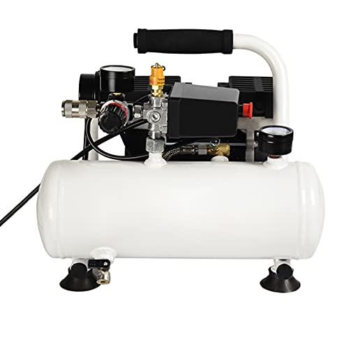 WUK Bomba inflada sin Aceite 370 / 750W Compresor de Aire silencioso portátil 59 / 75dB Mini Pintura en Aerosol para el hogar Soplado de Polvo Dental Compresor de Aire de 8 / 24L 0.8/0.9 Mpa