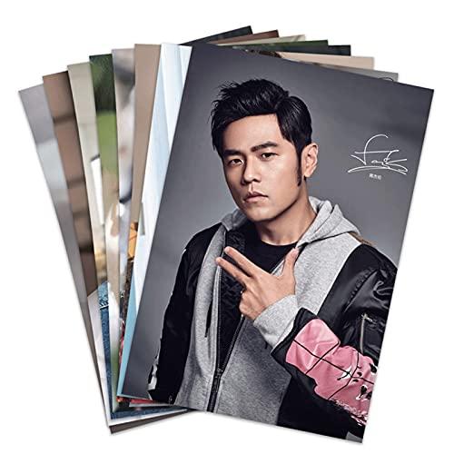 WDFDZSW Jay Chou Affiche Nouveau Fond d'écran HD Périphérique Périphérique Postcard Carte Sticker Sticker Mural Peinture Murale 8 pièces