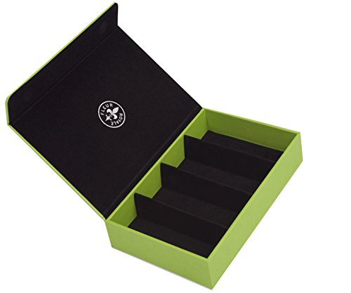 Fleur Royale Brillenbox Mehrbrillenetui Quartett Intense für 4 Brillen 246x175x51mm (apfel) robust & edel