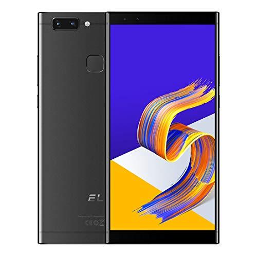 ZYDES Cámaras duales traseras, identificación de Rostro y Huella Digital, 5.7 Pulgadas Android 8.1 MTK6750 Octa Core hasta 1.5GHz, Red: 4G, Dual SIM (Color : Black)