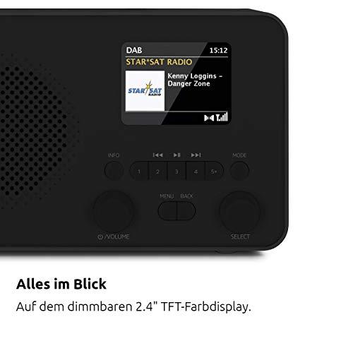 TechniSat TECHNIRADIO 6 IR - portables Internetradio (DAB+, UKW, WLAN, Bluetooth, Farbdisplay, Wecker, App-Steuerung, Favoritenspeicher, 3 Watt RMS) schwarz
