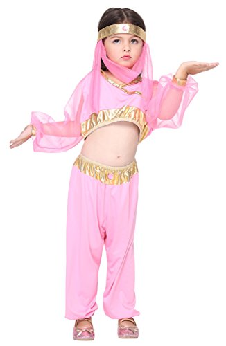 Bigood Costumes Déguisement Cosplay Bohême Princesse Magique Enfant Fille pour Halloween