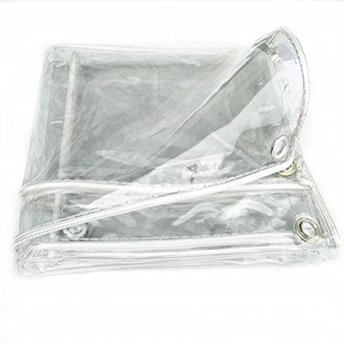 Tela de lona de jardín impermeable de PVC transparente con accesorios, lona transparente con ojales resistente al desgarro impermeable para la tienda de césped de invernadero Roof,1.2x3m(3.9x9.8ft)
