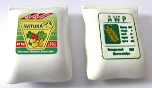 playmobil ® - 2 Teile - Sack Eisenbahn Transportmittel Säcke Mais Getreide Dünger Kaffee -siehe Foto meine ID-02-08