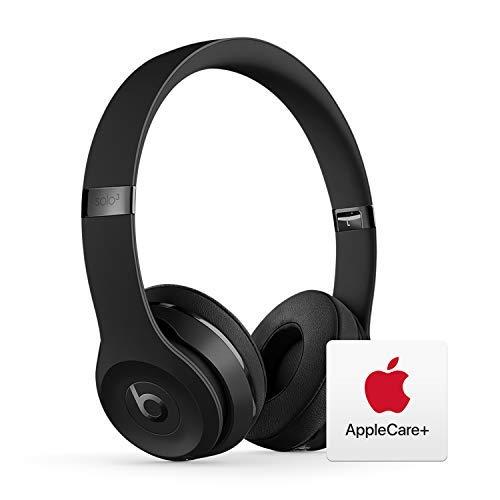 Beats Solo³ Wireless On-Ear Headphones - Apple W1 Chip - Black with AppleCare+ Bundle
