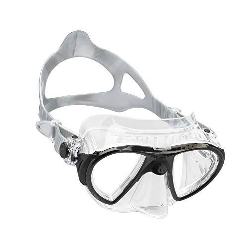 Cressi Nano Crystal Máscara, Unisex, Transparente/Negro