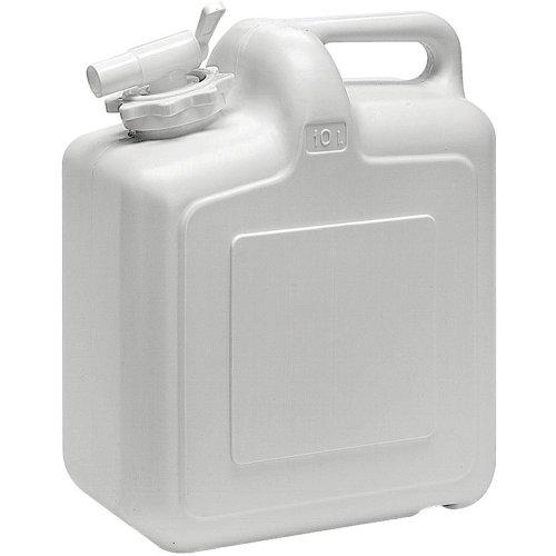 Wasserkanister 10L für Trinkwasser geeignet große Füllöffnung Wassertank für Trekking, Camping oder Freizeit lebensmittelecht für Trinkwasser geeignet stabiler Kunststoff BxLxH: ca. 17x27x33cm