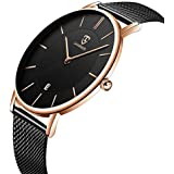 MEGALITH Mens Watches Black Stainless Steel...