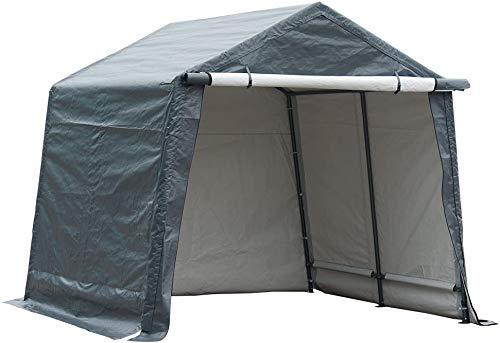 Abba Patio Outdoor Storage Shelter with Rollup Door Storage Shed Portable Garage Kit Tent for...