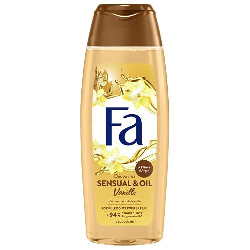 Fa - Gel Douche Corps - Sensual & Oil - Huile d'Argan & Parfum Fleur de Vanille - Formule de pH neutre pour la peau - Testé sous contrôle dermatologiq