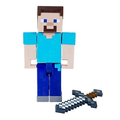 Minecraft GTP13 - Craft-A-Block, Steve, Figur aus dem Sortiment, authentischer Charakter aus dem Videospiel, Geschenk zum Sammeln für Minecraft Fans ab 6Jahren