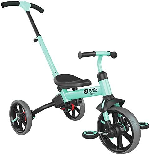 三輪車 自転車 手押し棒付き キックバイク バランスバイク ペダル付き 3段階変形 トライク 3in1 子供用 変身バイク 1歳 2歳 3歳 4歳 5歳 折りたたみ 組み立て簡単 自転車 子供用 グレンgreen