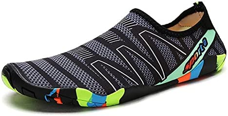 YINI Unisex Swimming Water Shoes Men Barefoot Outdoor Beach Sandals Upstream Aqua Shoes Plus Size Nonslip River Sea Diving Sneakers (Color : 23, Shoe Size : 45)