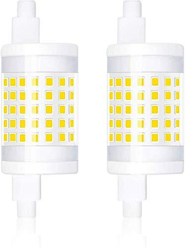 Bonlux 2-PCS Regulable 10W R7S 78mm Bombilla LED Lámpara lineal J78 T3 220V 360 grados 1000 Lumen equivalente 100W Bombilla halógena blanca cálida 3000k para jardín, pasillo, lámpara de pie, proyector