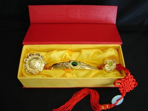 Golden Ru Yi Scepter with Auspicious Words