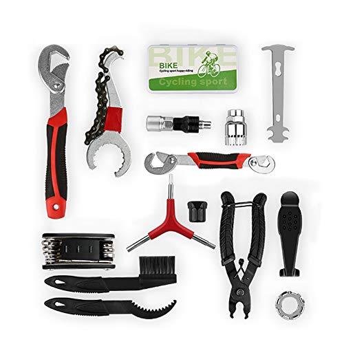 welltop Fahrrad Werkzeugkoffer 13tlg Fahrrad Werkzeug Set, Fahrradwerkzeug für Fahrrad Montagearbeiten und Reparaturen, Fahrrad Werkzeugset mit Aufbewahrungstasc