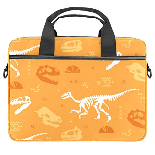 Lurnies Esqueleto de Dinosaurio Mochila portátil Impreso único Compatible con MacBook Pro de 13-13.3 Pulgadas, MacBook Air, computadora portátil 28x36.8x3 cm