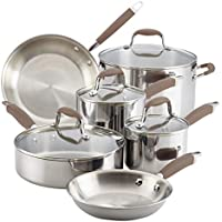 10 Piece Anolon Stainless Steel Cookware Pots and Pans Set