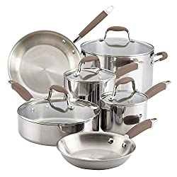 Best Overall Anolon Advanced Triply Stainless Steel Cookware Pots and Pans Set