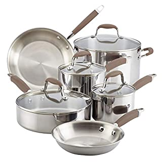 Anolon Advanced Triply Stainless Steel Cookware Pots and Pans Set, 10 Piece (B0779YVH7F)   Amazon price tracker / tracking, Amazon price history charts, Amazon price watches, Amazon price drop alerts