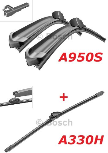 Bosch Scheibenwischer Front.- und Heckwischer - Aerotwin A950S Längen: 700/700mm (3397118950) & A330H Länge: 330mm (3397008006)