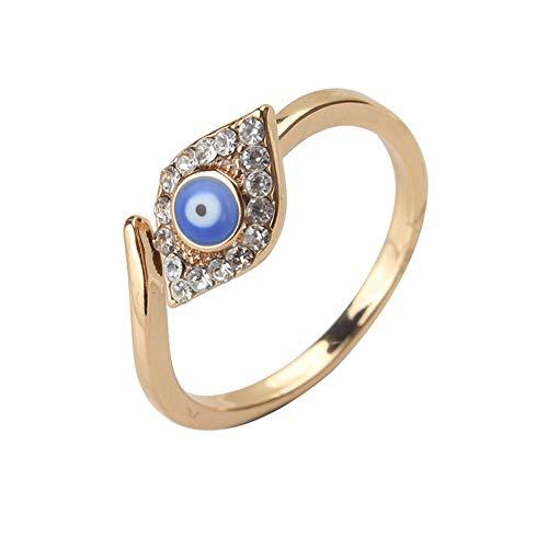 21 * 22Mm Oro Cobre Evil Eye Micro Pave Anillos Corazón De Moda Anillo De Plata De Ojo Malvado Para Mujer Anillo De Joyería Regalo De Fiesta