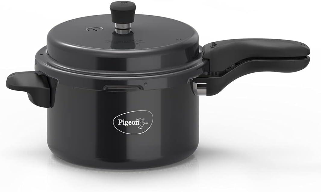 Pigeon Titanium Hard Anodized Pressure Cooker 5 Litres Black