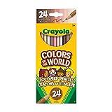 Crayola 918993.036 24 Colours of The World Skin Tone Pencils