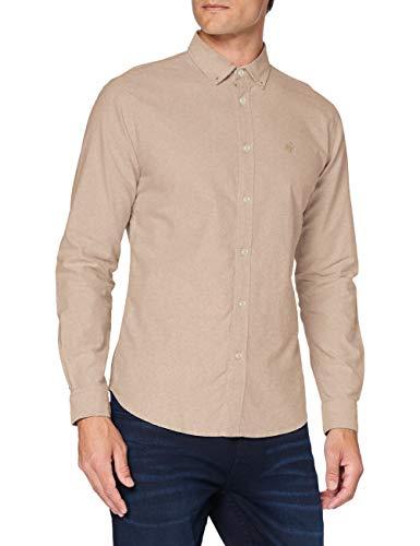 Springfield Herren 278696 Hemd, Beige, XL