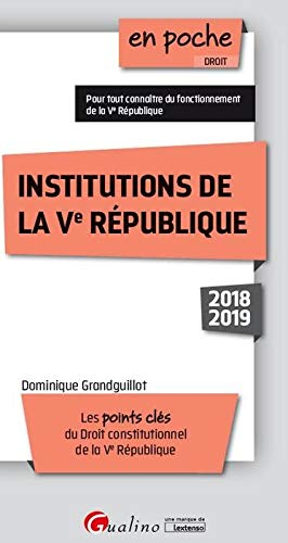 Institutions de la Ve République PDF Books