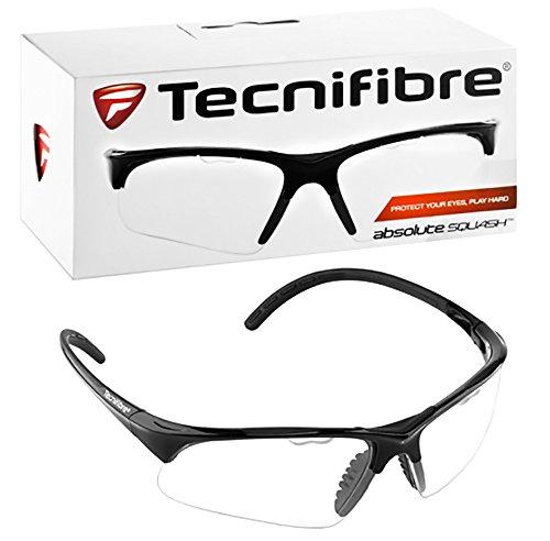 Tecnifibre Squash Racketball Protective Eyewear Glasses Goggles - Black Frame
