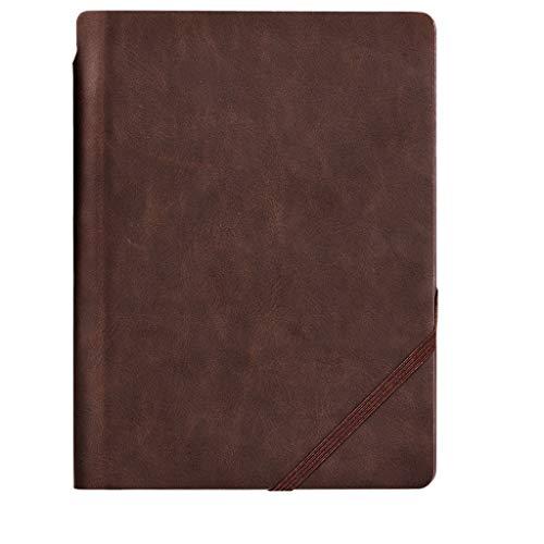 cuaderno punteado diario Cuaderno de cuero portable libro del diario con registro Reunión de Trabajo de la pluma Este libro A5 simple de la mano de la Universidad del Libro de Cumpleaños cuaderno de c