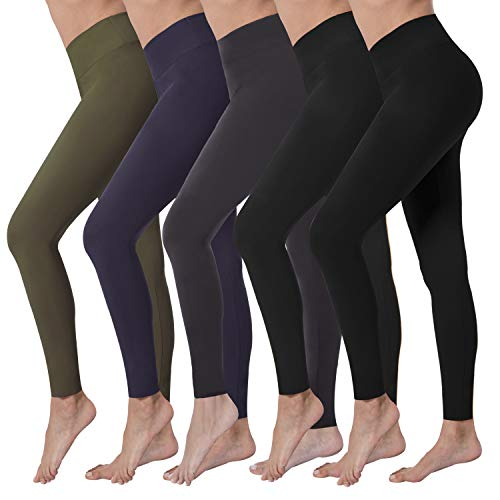 VALANDY High Waisted Leggings for Women Stretch Tummy Control Athletic Workout Running Yoga Pants Reg&Plus Size