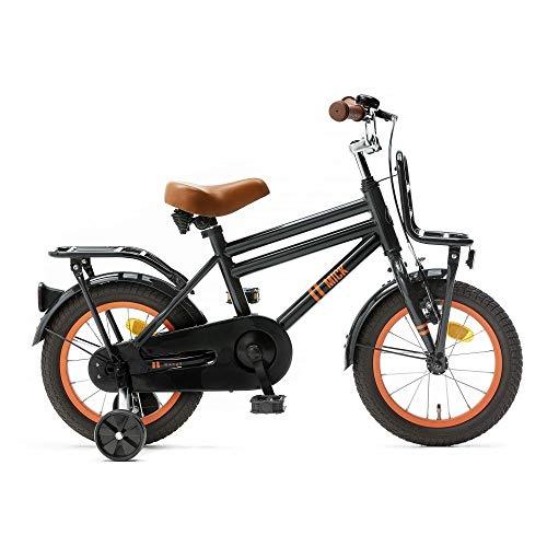 Kinderfiets Nogan Mick 12, 14, 16 en 18 inch Jongensfiets met zijwieltjes in meerdere kleuren voor kinderen van 3 tot 7 jaar