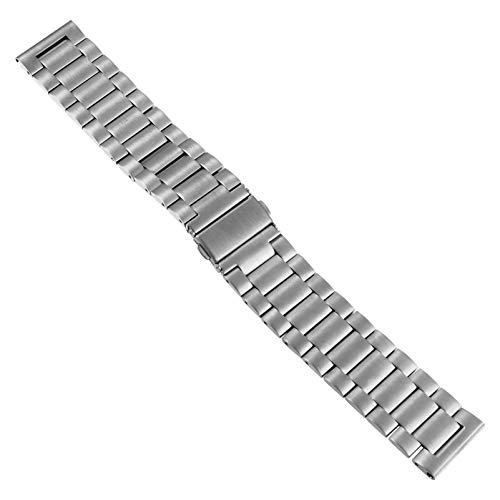 Pulseira de relógio Hemobllo de aço inoxidável, liberação rápida, pulseira de substituição para smartwatch compatível com Carlyle/Julianna Fossil Gen 5 (prata)