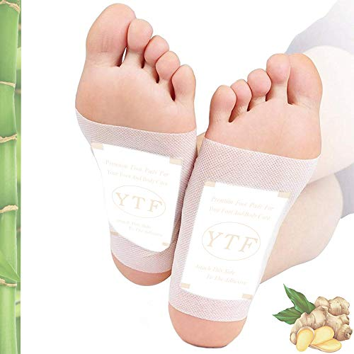 Foot Pads - (60Pads) Ginger Foot Patch for Better Sleep and Anti-Stress Relief, Pure Natural Bamboo Vinegar and Ginger Premium Ingredients Combination for Foot and Body Cleansing.