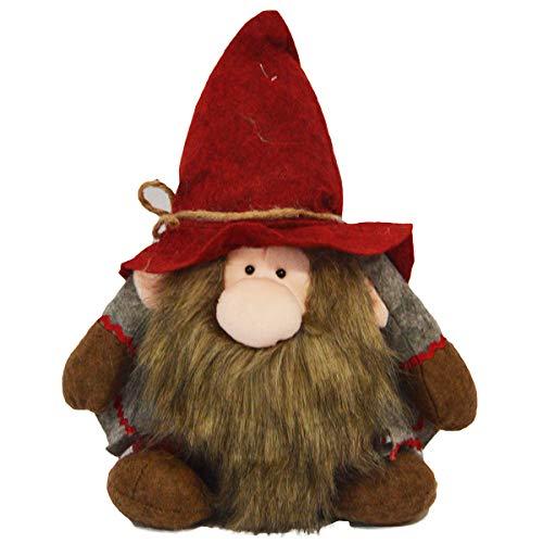 R.P. Fermaporta Gnomo Troll Remi' - Pupazzo Decorativo Natale Country Chic