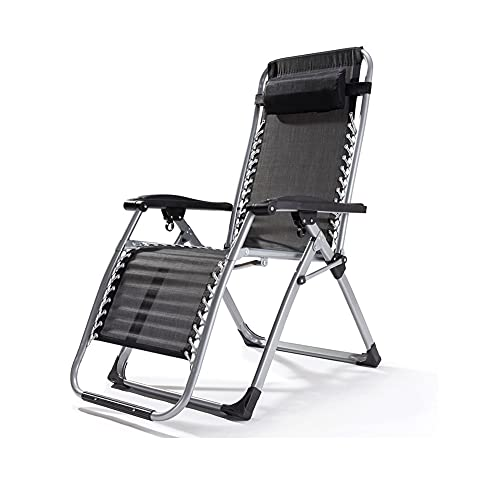 SUYANG Silla de camping ajustable Silla plegable pesada de respaldo alto, silla de playa, silla de viaje, silla portátil tapizada brazo duro marco de acero al aire libre silla apoyo