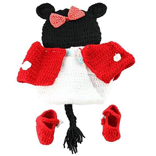 Ropa de fotografía para bebés recién nacidos de 0 a 6 meses rojo rosso Talla:estándar