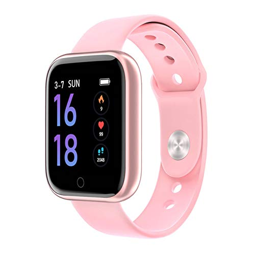 MeterMall Fashion T80 Smart Watch Vrouwen Mannen Sport Waterdichte Armband Rose goud Siliconen riem