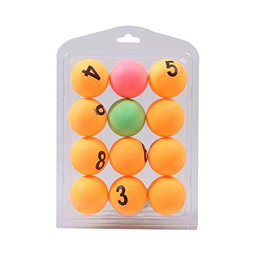 12 sztuk piłki do tenisa stołowego z numerem 40MM uniwersalny piłeczka do ping-ponga piłka do piwa-ponga loteria