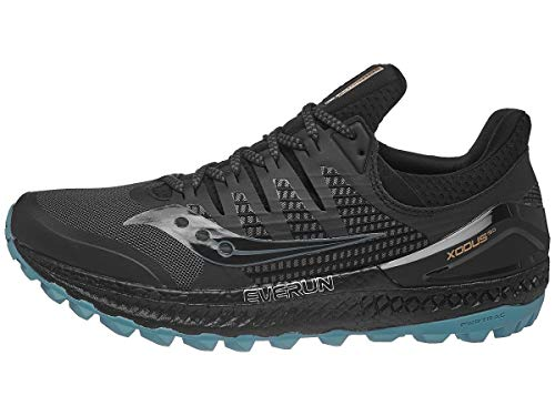 Saucony Men's Xodus ISO 3 Sneaker Trail Running Shoe grey/black 10 M