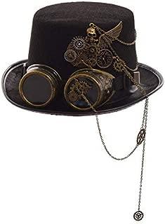GRACEART スチームパンクトップゴーグル付き帽子(様々なスタイル) (G)