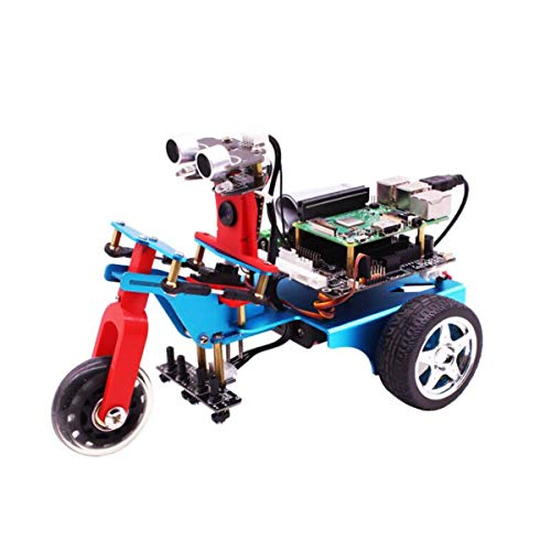 HARTI Smart Car Kit Für Himbeere Pi 4B, 4WD Tricycle Programmierbarer Roboterbausatz Mit 5G WiFi Echtzeitübertragung, 4.0 Bluetooth Modul, DIY Mechanische Bausteine,2G