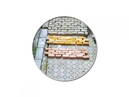 modellbahn-exklusiv Juweela 28146 - Straßenpflaster Gehwegpflaster rot Mix, 10.000 Stück, Spur H0, 1:87