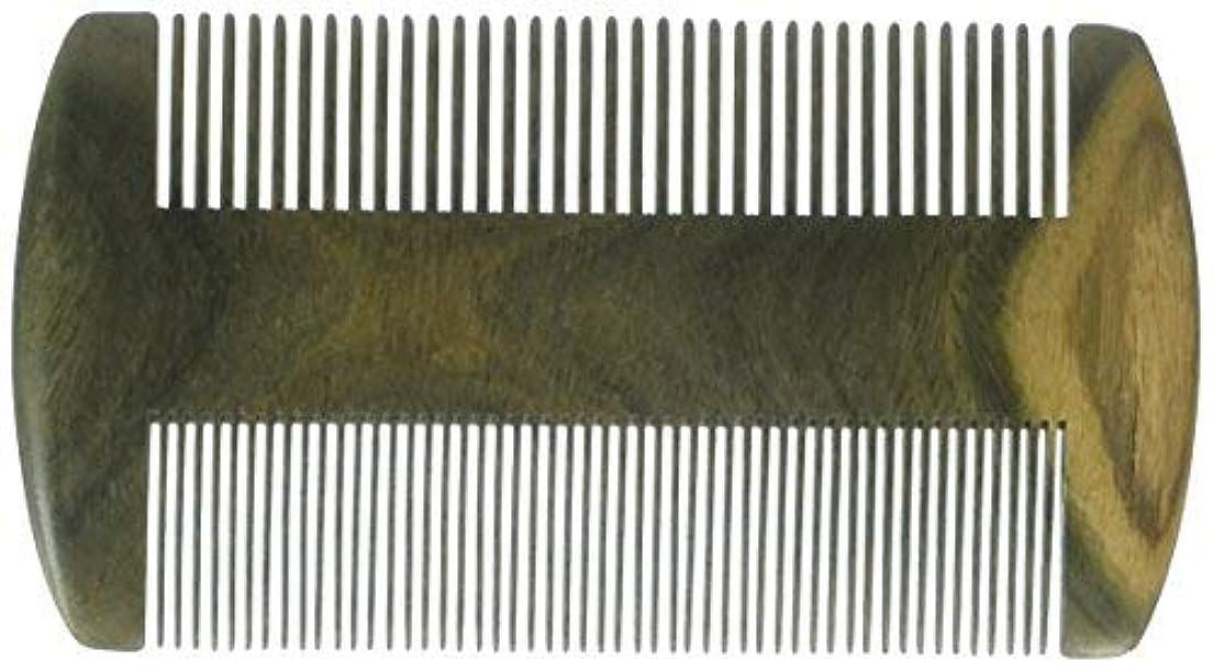 巨人季節振動させるEQLEF? Green sandalwood no static handmade comb, Pocket comb (beard) [並行輸入品]