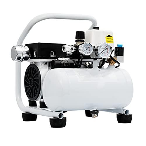 WUK Compresor de Aire portátil 5L Bomba de Aire silenciosa sin Aceite para el hogar pequeño 380/550/750 W Compresor de Aire en Aerosol para Pintura en Polvo y manómetro Doble
