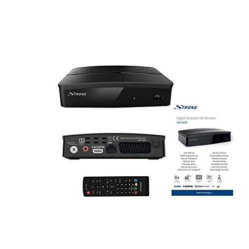 Strong SRT 8209 digitale HD-receiver (DVB-T2, HDMI, USB-recorder, SCART, HEVC) zwart