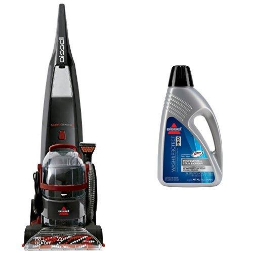 BISSELL ProHeat 2X LiftOff Teppichreinigungsgerät + Wash&Protect Pro Reinigungsmittel